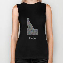 Idaho map Biker Tank