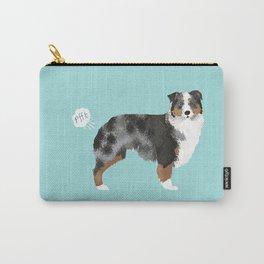 Australian Shepherd blue merle funny dog fart Carry-All Pouch