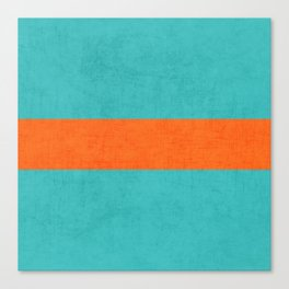aqua and orange classic Canvas Print