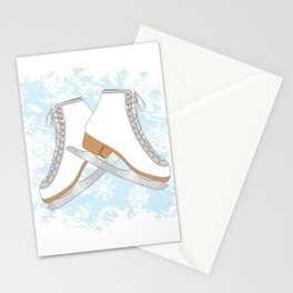 Ice skates Stationery Cards