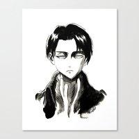 levi Canvas Prints featuring Captain Levi by anna zoladz