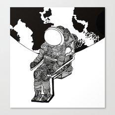 Astronaut Adrift Canvas Print