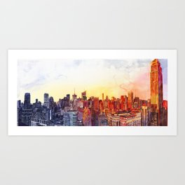 Sunshine in NYC Art Print
