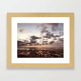 Clouds On The Water Framed Art Print