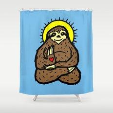 Buddha Sloth Shower Curtain
