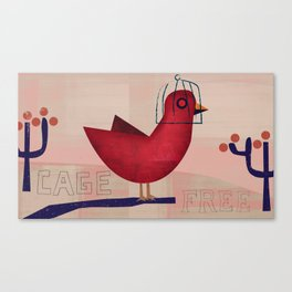 Cage Free Canvas Print