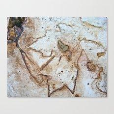 Maple Leaf Etching Canvas Print
