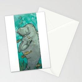 Manatee--Endangered Animal #1 Stationery Cards