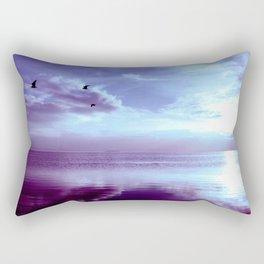 Serenity Lake Lavender Rectangular Pillow