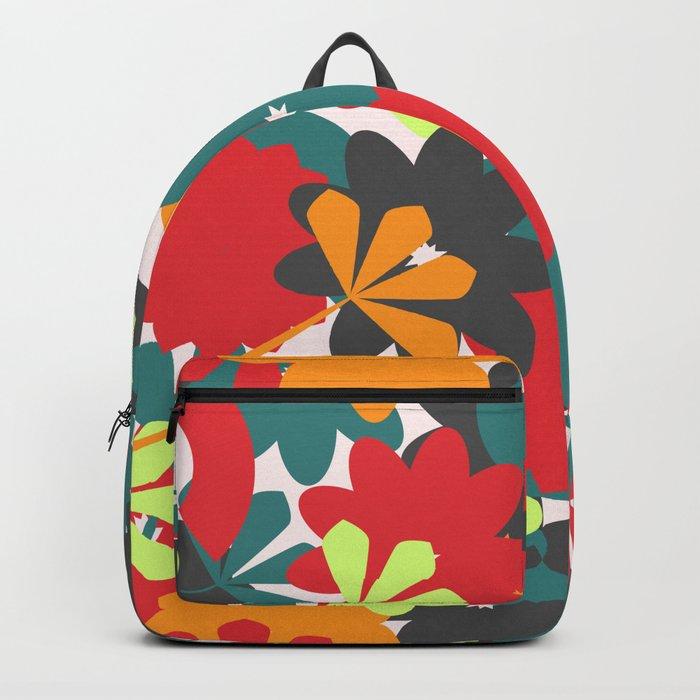 Colorful floral garden Backpack