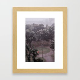 The lonely umbrella. (Subang Jaya, 2013) Framed Art Print