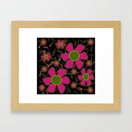 purple impatients Framed Art Print