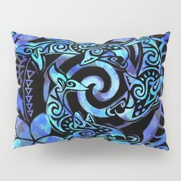 Tribal Dolphins Tie Dye Pillow Sham