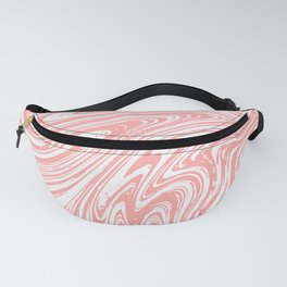 Coral Pink & White Marble Texture - Mix & Match With Simplicity of Life Fanny Pack