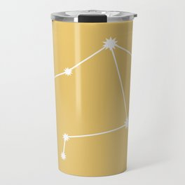 Libra Zodiac Constellation - Golden Yellow Travel Mug