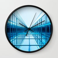 architecture Wall Clocks featuring Architecture by GF Fine Art Photography