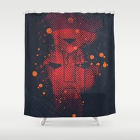1984 Shower Curtains featuring Grunge Transformers: Autobots by Sitchko Igor