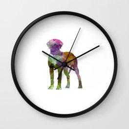 Rhodesian Ridgeback in watercolor Wall Clock