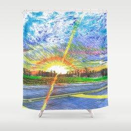 Lafayette Sunset Shower Curtain