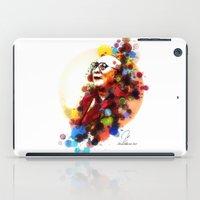 lama iPad Cases featuring Dalai Lama by Rene Alberto