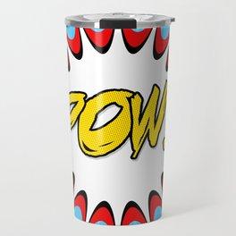 POW! Comic Book Cartoon Art Travel Mug