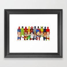 Superhero Butts LV Framed Art Print