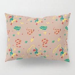 Cowboy/Girl Western Snake Wallpaper Pillow Sham