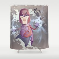magneto Shower Curtains featuring Magneto Kaffee Time by Emilio Rizzo