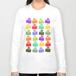 Colorful Cameras Long Sleeve T-shirt