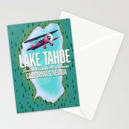 Lake Tahoe map Stationery Cards