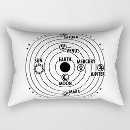 Earth geocentric jupiter mars Rectangular Pillow
