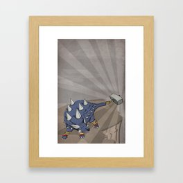 Ankylothorus - Superhero Dinosaurs Series Framed Art Print