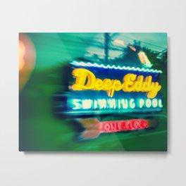 Deep Eddy Swim Neon Sign Metal Print