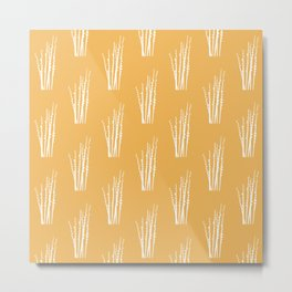 White catkin pattern Metal Print