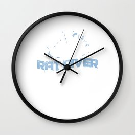 Awesome Rat River Rafting Rafter Rafters Mens Club Wall Clock