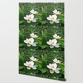White Flowers of the Purest Essence Wallpaper