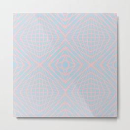 geometric, pink on blue Metal Print