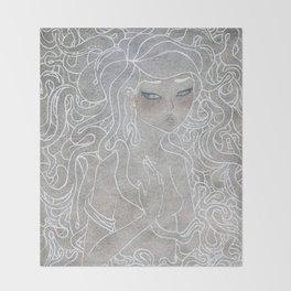 Young Medusa Throw Blanket
