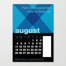 2013 Pigment to Pantone Calendar – AUGUST Canvas Print