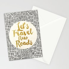 Let's Travel New Roads Stationery Cards