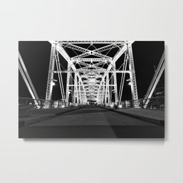 Shelby Street Bridge At Night Metal Print