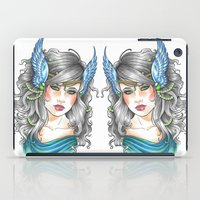 goddess iPad Cases featuring Goddess by Little Lost Forest