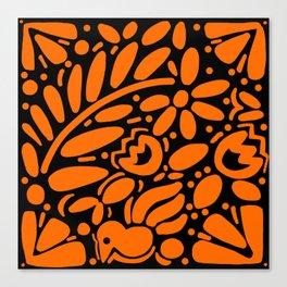 Beautiful Orange Otomi Canvas Print