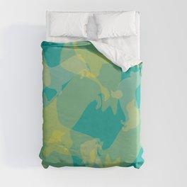 Blue & Yellow Corgi Pattern Duvet Cover