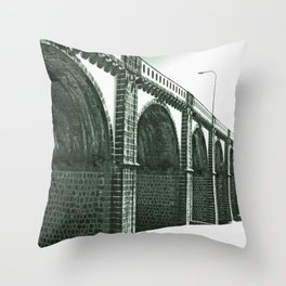 Bridge in Ribeira Grande Throw Pillow