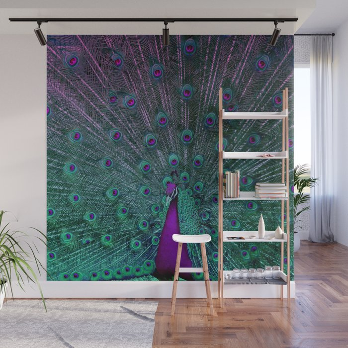 BLOOMING PEACOCK Wall Mural