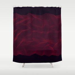 Facets - Dark Purple Shower Curtain