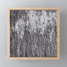 White Barn Wood Framed Mini Art Print