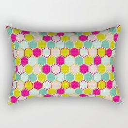 Multicolored Hexagon Shapes Pattern Rectangular Pillow