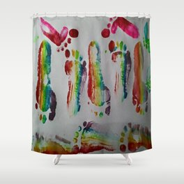 FOOTSTEPS DUVET COVER DESIGN Shower Curtain